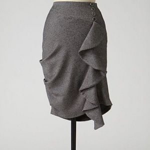 Anthro Eva Franco Tweed Fluttering Pencil Skirt